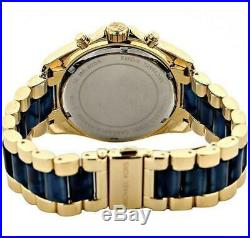 Michael Kors MK6268 Bradshaw Gold and Navy Blue Chronograph Unisex Watch