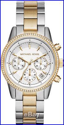 Michael Kors MK6474 Women's Ritz Two-Tone Chronograph Watch