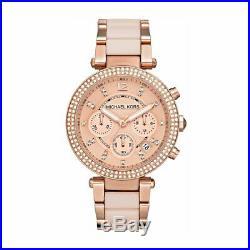 Michael Kors Parker Rose Gold Pearl Chronograph Bracelet Ladies Watch Mk5896