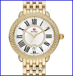 Michele Serein Diamond Gold Tone Mother Of Pearl Face Women's Watch MWW21B000031