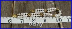 Mikimoto 18K Yellow Gold Pearl Bracelet Approx. 6
