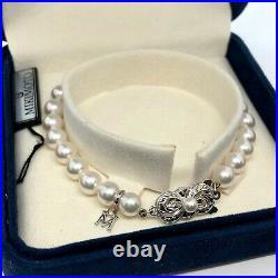 Mikimoto 6-6.5mm 18kt White Gold & Pearl Strand Bracelet 7