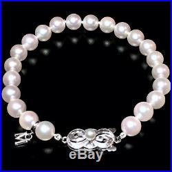 Mikimoto Pearl Bracelet 18kt Akoya Pearls 7mm 7.25 18K White Gold