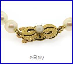 Mikimoto Vintage Pearl Bracelet in 18K