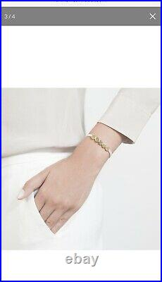 Monica Vinader Linear bead Friendship Bracelet Yellow Gold & Ballet Pink Cord