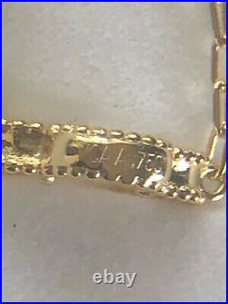 Mother of Pearl Clover Bracelet New with Vintage Clasp Yellow Gold Titanium