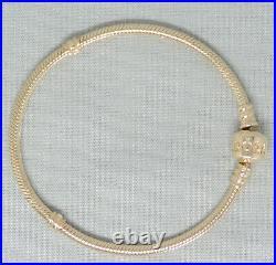 NEW Authentic Pandora 14K Gold 7.5 Inch Charm/Bead Bracelet G585 ALE 550702-19