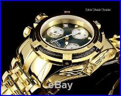NEW Invicta 42MM Bolt Zeus EMPIRE Swiss Quartz Black MOP All Gold Bracelet Watch