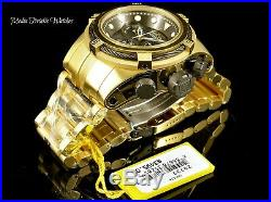 NEW Invicta 52MM Bolt ZEUS Swiss Quartz Black MOP Black & Gold Bracelet Watch