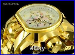 NEW Invicta Reserve 52mm Bolt Zeus White MOP DIAL MAGNUM 18K Gold Plated Watch