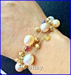 NEW! Marco Bicego 18k Yellow Gold Paradise 3 Strand Bracelet GORGEOUS