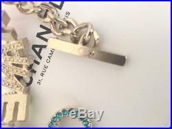 NWOT authentic Chanel Rainbow Colored Runway Pearls Enamel Gold bracelet 2017 1K
