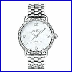 NWT Coach WOMEN'S Delancey MOP Mother of Pearl Dial Crystal Watch 36mm 14502481