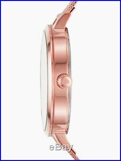 NWT Kate Spade New York Women's Metro Rose Gold Tone Mesh Bracelet Watch KSW1492