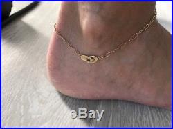 Na Hoku 14k Gold Hawaiian Diamond Slipper Ankle Bracelet. Anklet