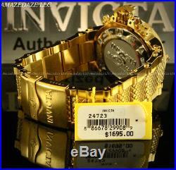New Invicta 50mm Mens Subaqua Noma III Swiss ETA Chrono 18K GP 500M Diver Watch
