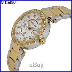 New Michael Kors MK6055 Women's Chronograph Mini Parker Two-tone Bracelet Watch