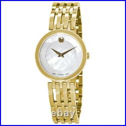 New Movado Esperanza Mother Of Pearl Dial Yellow Gold Women's Watch 0607054