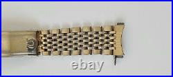 Omega 1073 Vintage Bead of Rice Gold Plated Watch Bracelet 20 Microns 15.5cm