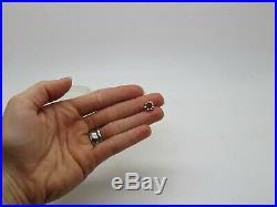 PANDORA ALE 14k Yellow Gold. 585 Ring of Roses Swirl Bead Spacer Bracelet Charm