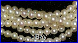 PEARL BABY AKOYA cultured bracelet 6 lines K14 yellow gold JAPAN 2-3 mm $3000