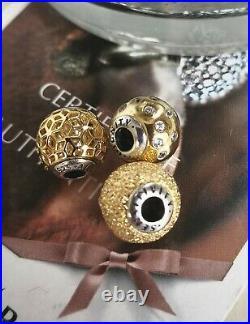 Pandora Rare Essence Bracelet 18cm+7 Gold & Silver Charms 596000 S925 Ale. New