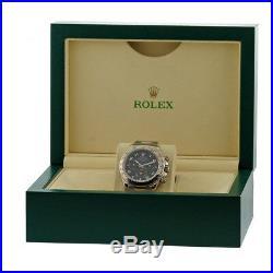 ROLEX 18K White Gold 40mm Daytona Cosmograph # 116509 Box Warranty D Serial