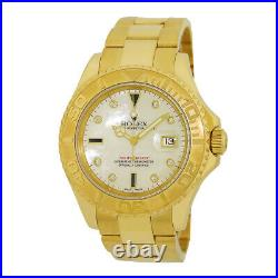 ROLEX 18K Yellow Gold Yachtmaster 16628 Factory Mother Pearl Warranty Box