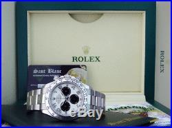 ROLEX REHAUT 40mm 18kt White Gold DAYTONA Panda Arabic 116509 SANT BLANC