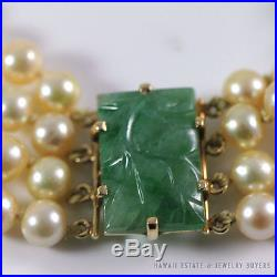 c1c092d66c4a2 Rare Ming's Hawaii Complete Pearl Jade Necklace Bracelet Earrings ...