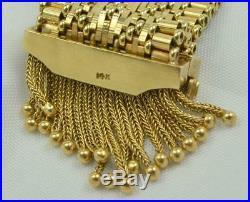 Rare Victorian 14k Enamel Seed Pearl Diamond Tassle Watch Bracelet Pin Pendant