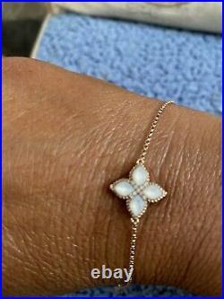 Roberto Coin Venetian Princess MOP & Diamond Flower Bracelet 18kt Rose Gold