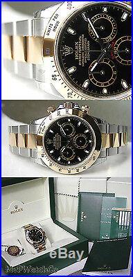 Rolex Cosmograph Daytona 116503 Steel & Yellow Gold Black Stick Dial 40mm Watch