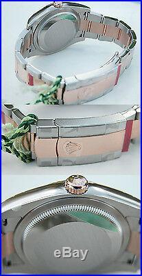 Rolex Datejust 116231 Steel & 18k Everose Gold Oyster Pink Index Dial 36mm Watch