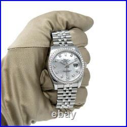 Rolex Datejust 36 Steel & Gold 116244 Wristwatch Mother of Pearl Diamond, J