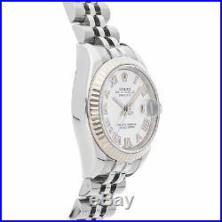 Rolex Datejust Auto 26mm Steel White Gold Ladies Jubilee Bracelet Watch 179174