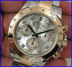 Rolex Daytona 116503 Two Tone Steel & Yellow Gold White Mother Of Pearl Diamond