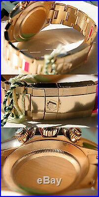Rolex Daytona 116508 Mens Yellow Gold White Mother Of Pearl Diamond Watch 40mm