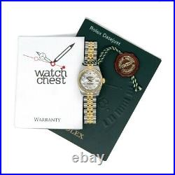 Rolex Lady-Datejust Gold & Steel 179173 Watch Mother of Pearl Diamond, Jubilee