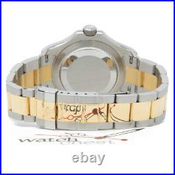 Rolex Men's Yacht-Master 40 Watch, Black Mother of Pearl, Steel & Gold, 16623