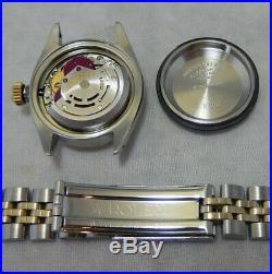 Rolex Oyster Perpetual Datejust 14k/ss Gold Ladies Watch Jubilee Bracelet 1978