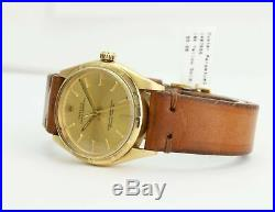 Rolex Watch Men's Oyster Perpetual 1005 14k Yellow Gold Turn-o-Graph Bezel 34mm