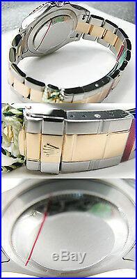 Rolex YACHT-MASTER 16623 Mens Steel & Gold Time Lapse Bezel BLUE DIAL 40MM