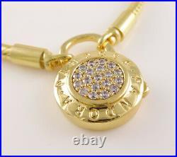 SIGNATURE PADLOCK Authentic PANDORA Shine GOLD plated Bracelet 7.920cm 567757CZ