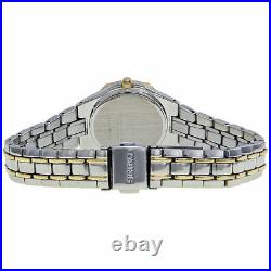 Seiko SUT068 Women's Solar Mother Of Pearl Two-Tone Stainless Steel Date Watch