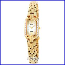 Seiko Tressia Solar Movement Mother of Pearl Dial Ladies Watch SUP330