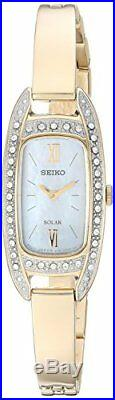 Seiko Women's Jewelry Quartz Stainless Steel Dress Watch, ColorGold-Toned