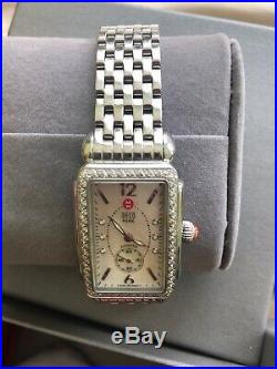Stainless Michele Deco. 57cts Diamond Mother of Pearl Dial Watch MW06V01A1025
