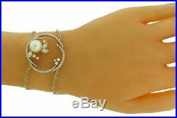 Stefan Hafner 18k white gold diamond & pearl bracelet R$1400