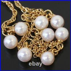 TASAKI Pearl Design Chain Bracelet in 18K Yellow Gold D7584